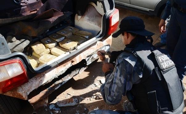 Polícia Militar apreende 37kg de crack entre a MS-276 e MS-141