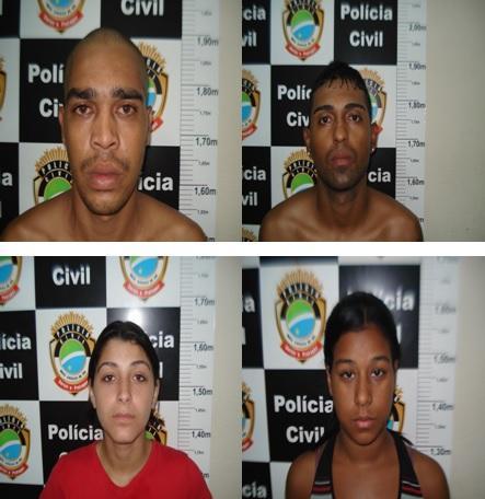Denar prende quatro pessoas por tráfico de drogas na Capital