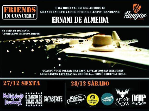 Bandas do Estado homenageiam Ernani de Almeida com show beneficente