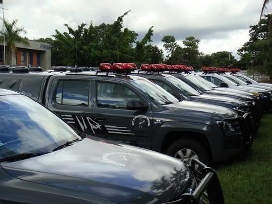 Governo entrega 78 novas viaturas para as polícias de MS