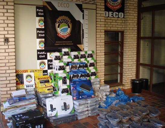 Polícia Civil apreende R$40 mil em mercadoria contrabandeada