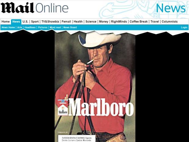 Ator foi o 3º a morrer de doença relacionada ao fumo