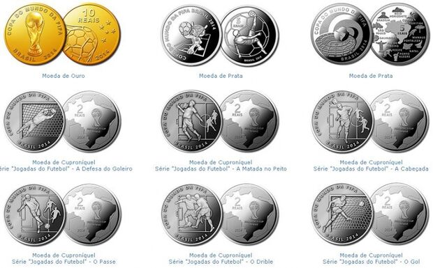 BC e Casa da Moeda lançam moedas comemorativas da Copa