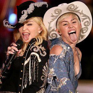 Madonna e Miley Cyrus fazem performance sensual em gravação de acústico