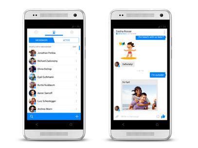 Aplicativo de mensagem do Facebook ganha nova versão