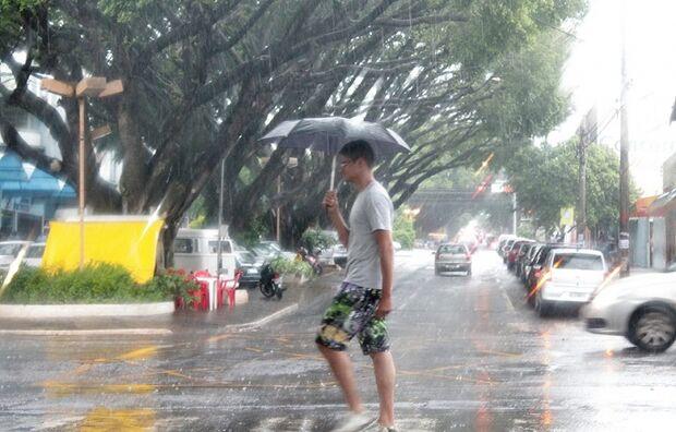 Previsão de chuva para Mato Grosso do Sul na virada do ano