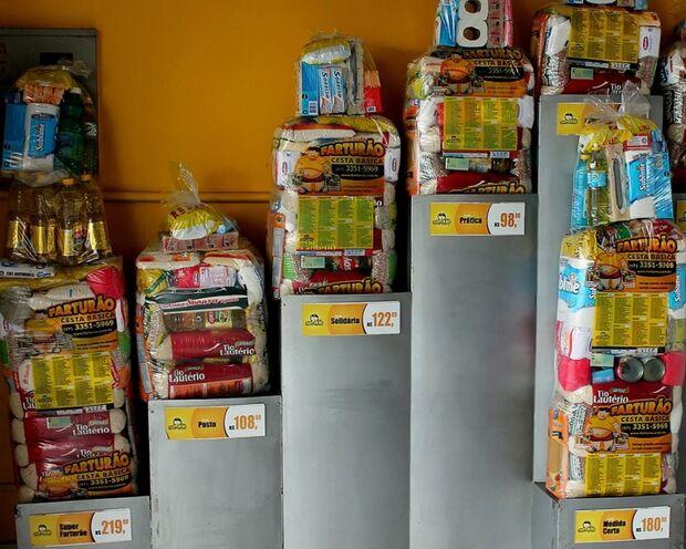 Preço da cesta básica aumenta 9% na Capital