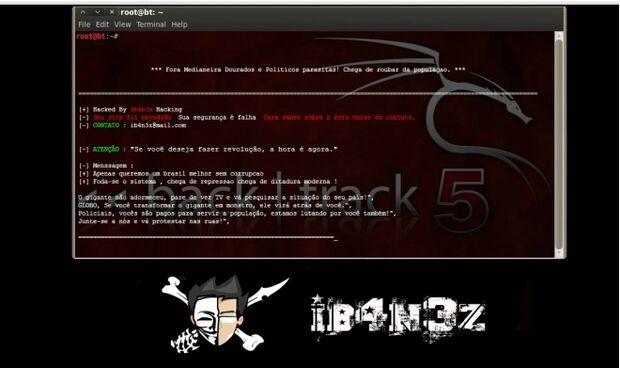"""""""Fora políticos parasitas"""", diz mensagem de hackers no site da câmara de Dourados"""