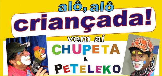 Dupla de palhaços Chupeta e Peteleko se apresentam hoje no projeto Orla Cultural
