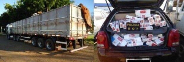 Motorista abandona carreta com 40 mil pacotes de cigarro