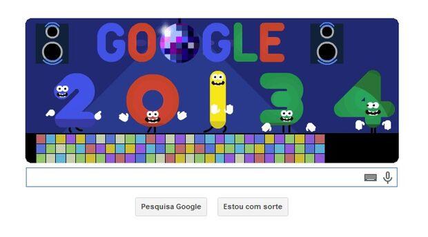 Com novo doodle, Google aguarda a virada do ano
