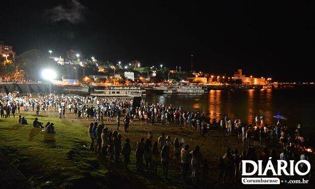 População participa de celebração a Iemanjá no Porto Geral de Corumbá