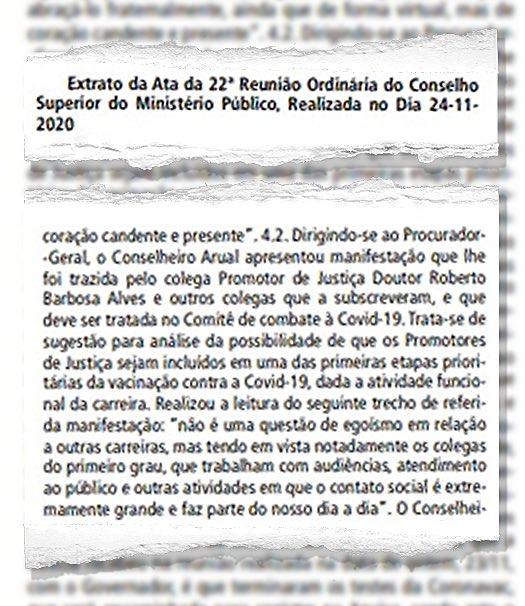 Extrato do pedido dos promotores paulistas