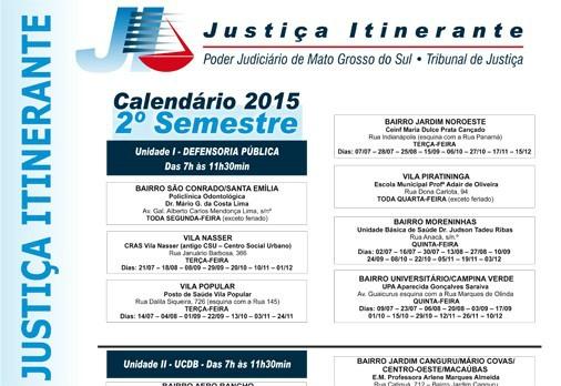 Justica Itinerante Calendario 2019 Campo Grande Ms.Divulgado Calendario Da Justica Itinerante Para O Segundo