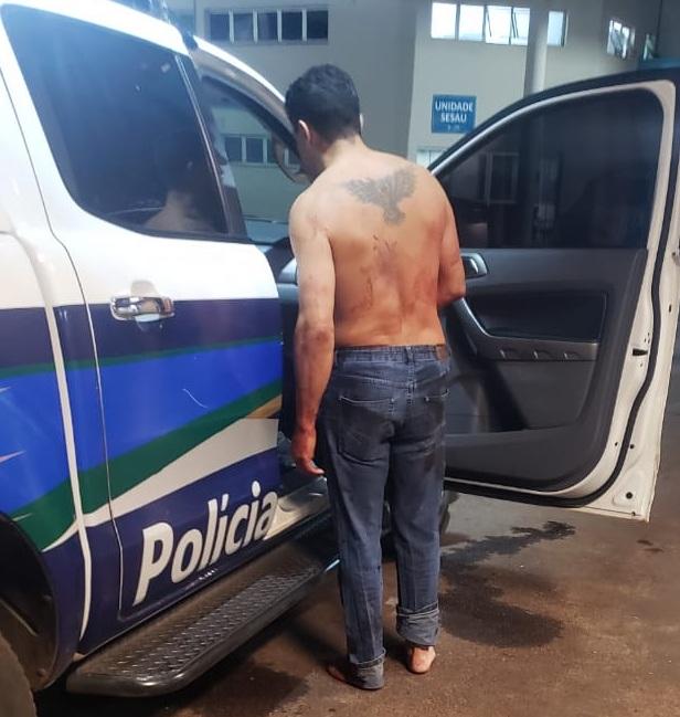 ítima foi levado ao hospital por um acompanhante. (Foto: Repórter Top)